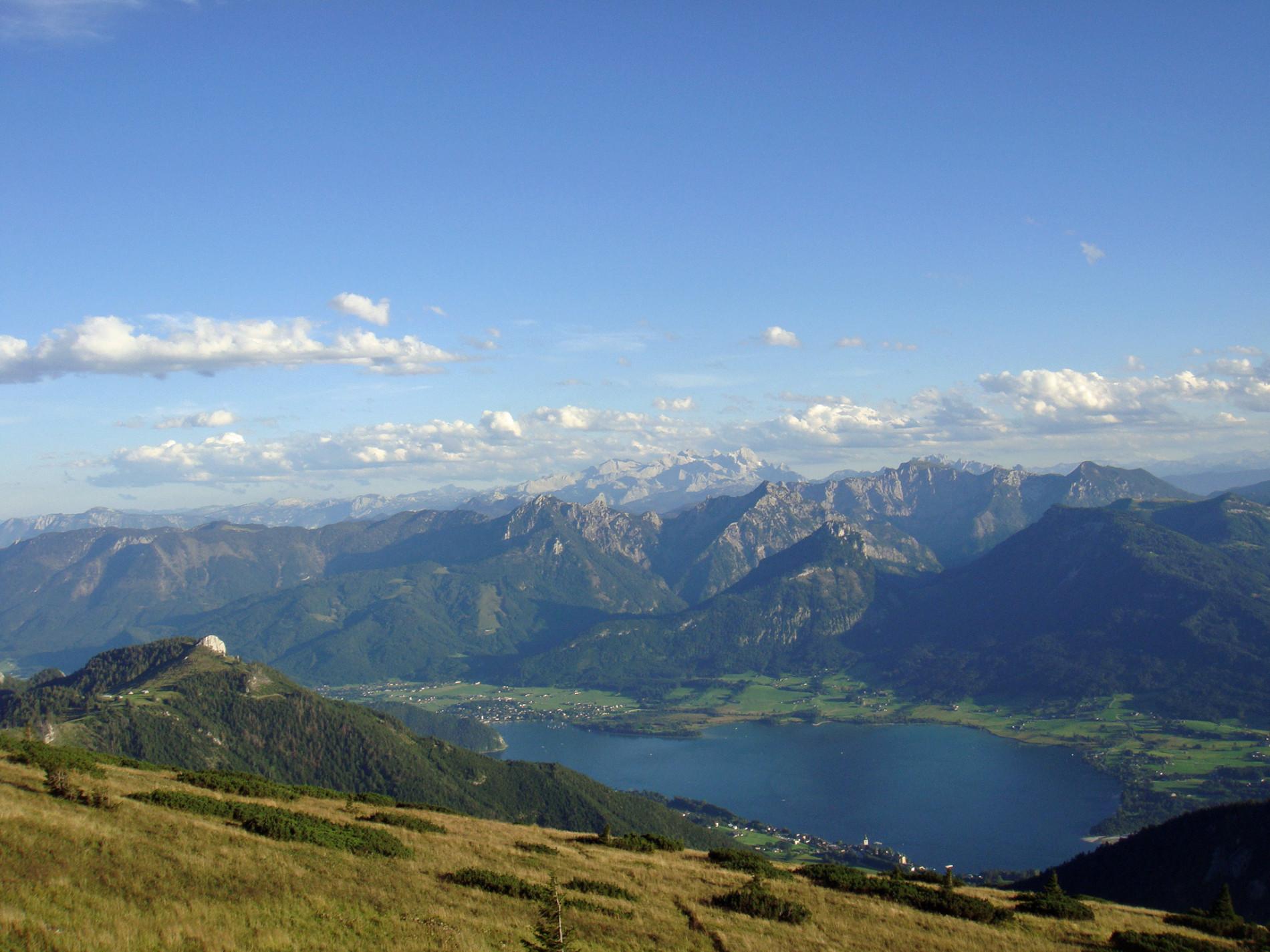 Bergpanorama beim Wolfgangsee