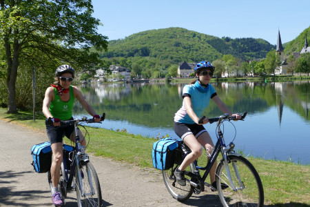 Radfahrer am Moselradweg